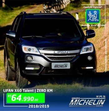 Lifan X60 Talent – 2019 (Condição especial para CNPJ ou Produtor Rural)